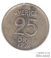 Schweden KM-Nr. : 824 1956 Sehr Schön Silber Sehr Schön 1956 25 Öre Krone - Schweden