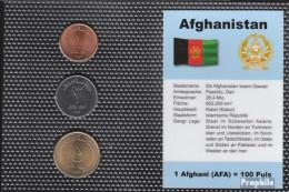 Afghanistan KM-Nr. : 1044 -1046 Stgl./unzirkuliert Kursmünzen Stgl./unzirkuliert 2004 1 Afghani Bis 5 Afghani - Afghanistan