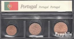 Portugal P1 - 3 2002 Stgl./unzirkuliert Stgl./unzirkuliert 2002 Kursmünze 1, 2 Und 5 Cent - Portugal