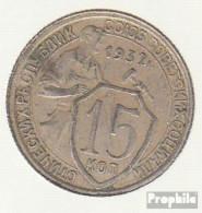 Sowjetunion KM-Nr. : 96 1932 Sehr Schön Kupfer-Nickel Sehr Schön 1932 15 Kopeken Wappen - Russia