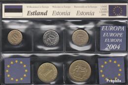 Estland Stgl./unzirkuliert Letzte Kpl.Ausgabe Vor EURO-Einführung Stgl./unzirkuliert 1991-2008 10 Senti Bis 5 Krooni - Estonie