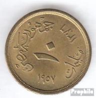 Ägypten KM-Nr. : 381 1957 Sehr Schön Aluminium-Bronze Sehr Schön 1957 10 Milliemes Sphinx - Aegypten