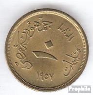 Ägypten KM-Nr. : 381 1958 Sehr Schön Aluminium-Bronze Sehr Schön 1958 10 Milliemes Sphinx - Aegypten
