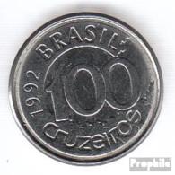 Brasilien KM-Nr. : 623 1992 Vorzüglich Stahl Vorzüglich 1992 100 Cruzeiros Seekuh - Brasilien