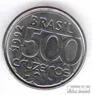 Brasilien KM-Nr. : 624 1992 Vorzüglich Stahl Vorzüglich 1992 500 Cruzeiros Schildkröte - Brazil