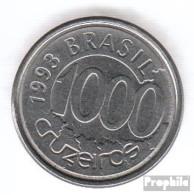 Brasilien KM-Nr. : 626 1993 Vorzüglich Stahl Vorzüglich 1993 1000 Cruzeiros Fisch - Brazil
