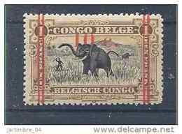 1922-23 CONGO Belge 101** Eléphant, Surchargé - 1894-1923 Mols: Nuovi