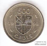 Ghana KM-Nr. : 34 1998 Vorzüglich Nickel-Messing Vorzüglich 1998 500 Cedis Trommeln - Ghana