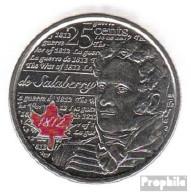 Kanada KM-Nr. : NEW 0 2013 Stgl./unzirkuliert Stahl, Coloriert Stgl./unzirkuliert 2013 25 Cents Farbmünze Elizabeth II. - Canada