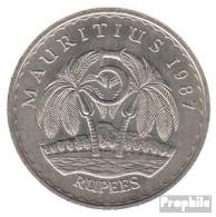 Mauritius KM-Nr. : 56 1987 Sehr Schön Kupfer-Nickel Sehr Schön 1987 5 Rupien Ramgoolam - Maurice