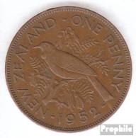 Neuseeland KM-Nr. : 21 1950 Sehr Schön Bronze Sehr Schön 1950 1 Penny George VI. - Neuseeland