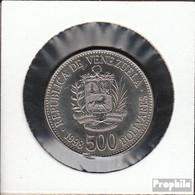 Venezuela KM-Nr. : 79 1998 Vorzüglich Stahl, Nickel Plattiert Vorzüglich 1998 500 Bolivares Wappen - Venezuela