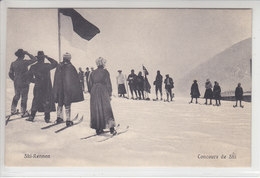 SPORTS D'HIVERS D'AUTREFOIS - SKI, SAUT A SKI,PATINAGE ETC - SOUVENIRS- N/C - ( DAVOS 1906 AU CRAYON AU DOS ) - Altri
