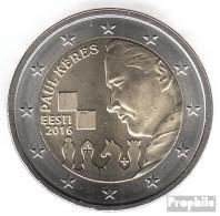 Estland 2016 Stgl./unzirkuliert Auflage: 500.000 Stgl./unzirkuliert 2016 2 Euro Paul Keres - Estonia