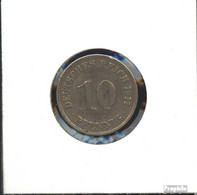 Deutsches Reich Jägernr: 13 1896 J Sehr Schön Kupfer-Nickel Sehr Schön 1896 10 Pfennig Großer Reichsadler - 10 Pfennig