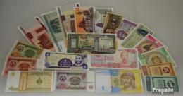 Alle Welt 20 Verschiedene Bankfrische Banknoten Bankfrisch - Sonstige