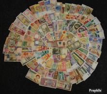 Alle Welt 100 Verschiedene Bankfrische Banknoten Bankfrisch Aus Zahlreichen Ländern - Sonstige