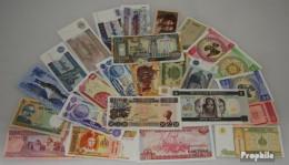 Alle Welt 25 Verschiedene Banknoten  Aus Übersee - Billets