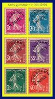 PRÉOBLITÉRÉS N° 45 à 49 - SEMEUSE CAMÉE PLEIN 1922-47 - SANS GOMME => OBLITÉRÉS - VOIR VERSO - - 1893-1947