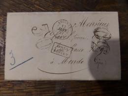 31.01.18_LAC  De Avignon De 1857 Taxe 30 Pour Mende - 1849-1876: Période Classique
