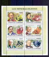 Nep001b MINERALEN GEMSTONES MINERALOGISTS Niven Von Abich Kunz MINERALIEN UND GESTEINE MINÉRAUX COMORES 2009 PF/MNH - Mineralen