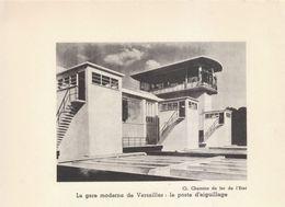 1936 - Iconographie - Versailles (Yvelines) - Le Poste D'aiguillage - FRANCO DE PORT - Vieux Papiers