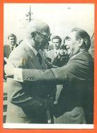 Photo De Presse AFP Helsinki Conférence Paneuropeenne Léonid Brejnev Et Urho Kekkonen 29/07/1975 - 2 Scans - Berühmtheiten