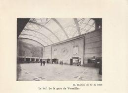 1936 - Iconographie - Versailles (Yvelines) - Le Hall De La Gare - FRANCO DE PORT - Vieux Papiers