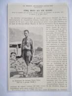 1932 -   CROISIERE JAUNE  - Le Lt Victor POINT - CHINE 中华人民共和国  SINKIANG     - Ancienne Coupure De Presse (Encart Photo) - Documents Historiques