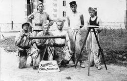 DA515 Carte Postale Photo Vintage RPPC Militaire Artillerie Mourmelon - War, Military