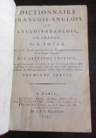 Dicitonnaire De Boyer François / Anglois (Français / Anglais) Tome 1 - 1797 (An V) - 17ème édition - Livres, BD, Revues