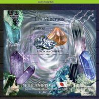 Nep005b MINERALEN GEMSTONES MINERALIEN UND GESTEINE MINÉRAUX Philanippon EXPO COMORES 2011 PF/MNH - Mineralen