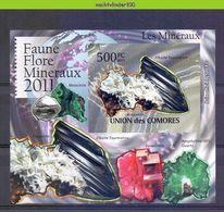 Nep006b  5 Einzelblocks MINERALEN GEMSTONES MINERALIEN UND GESTEINE MINÉRAUX COMORES 2011 PF/MNH - Mineralen