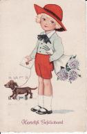 278850Hartelijk Gefeliciteerd, (poststempel 1931) (zie Achterkant En Hoekjes) - Anniversaire