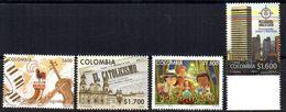 4 Sellos Diferentes De Colombia 2011 - Colombie