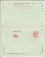 Belgique 1975 Carte-lettre à 6.50 F. Oblitérée Kraainem. Curiosité De Piquage, Dentelure Oblique - Stamped Stationery
