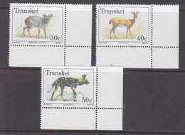 Transkei 1988 Animals 3v (corners) ** Mnh (37411) - Transkei