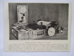 1932 - Observatoire De Paris - Horloge Parlante Electrique BRILLIE   - Ancienne Coupure De Presse (Encart Photo) - Machines