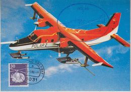 Germany 1986 Polar 2 Forchungsflugzeug Postcard (37412) - Andere Vervoerswijzen