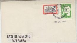 Argentina 197. Base De Ejercito Esperanza Cover  (37414) - Postzegels