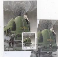 LOCOMOTIEVEN VAPEUR 12 ATLANTIC TRV/BL22A ONGETAND MET NR  Cote 150€ - 1952-....