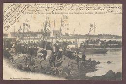 Larmor Départ Pour La Bénédiction Des Courraux De Groix  56260 Morbihan Barques De Pêche Larmor-Plage - Larmor-Plage
