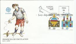 España. 1989. Europa. Juegos Infantiles Y Presidencia Española De Las Comunidades Europeas. - FDC