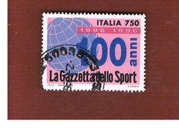 ITALIA REPUBBLICA  - UNIF. 2243  -   1996  GAZZETTA DELLO SPORT         -            USATO - 6. 1946-.. Repubblica