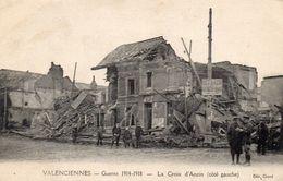 Cpa VALENCIENNES, La Croix D'anzin, Côté Gauche, Maisons En Ruines (53.48) - Guerra 1914-18