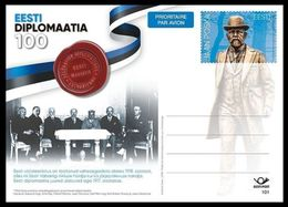 100 Years Of Estonian Diplomacy 2017 Estonia Postal Stationary # 101 MNH - Estland