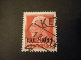 ISOLE JONIE - 1941, IMPERIALE, Sass. N. 3,  Cent. 20, Usato  TTB, OCCASIONE - Isole Jonie