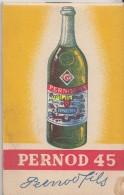 Petit Carnet Pernod 45 - Alcohols