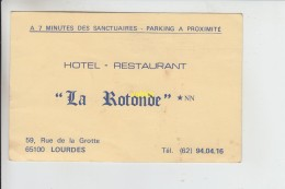 Hotel Restaurant  La Rotonde  Lourdes - Etiquettes D'hotels