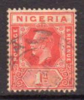 Nigeria GV 1914-29 1d Scarlet Definitive, Used, SG 2a - Nigeria (...-1960)